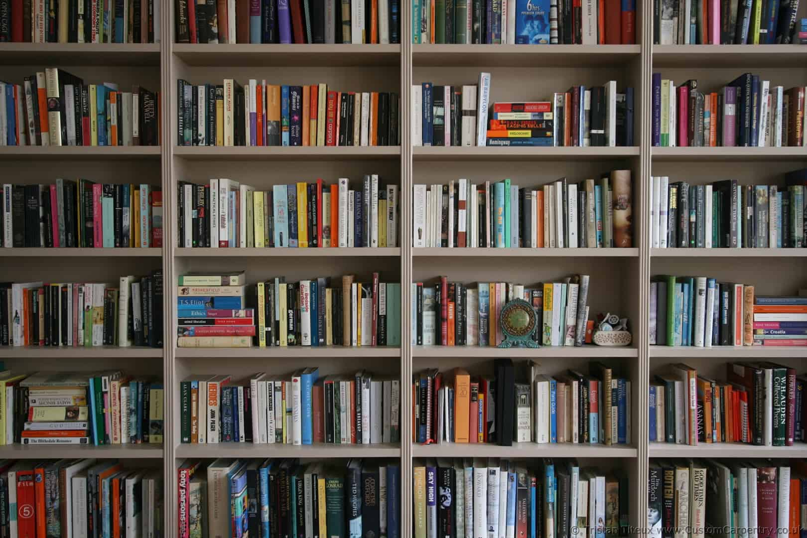 Bookshelf With Books ~ First bespoke fitted bookcase i ever built empatika